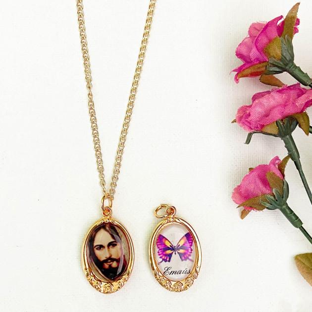 Medalla Rosa - Rostro de Jesús /...