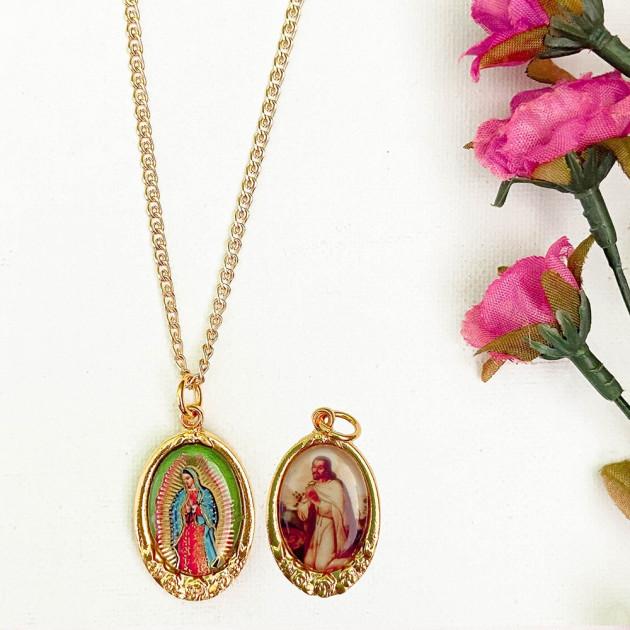 Medalla Rosa - Virgen de Guadalupe /...