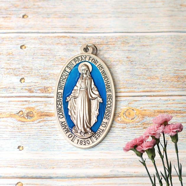 Medalla Esmaltada Virgen Milagrosa -...