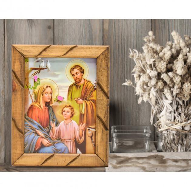Cuadro rústico Sagrada Familia
